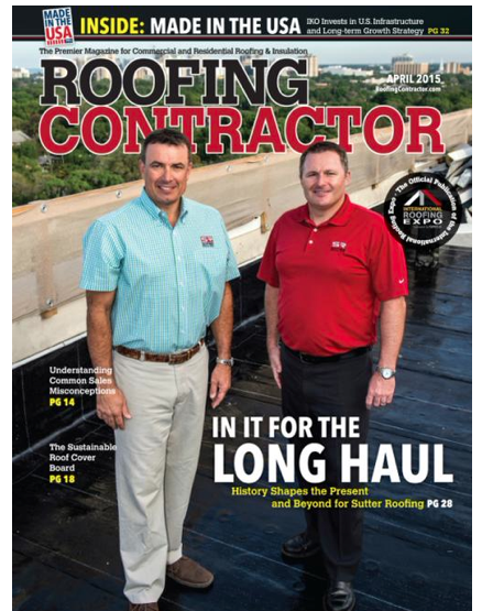 Sutter Roofing Makes Cover Of Roofing Contractor Magazine